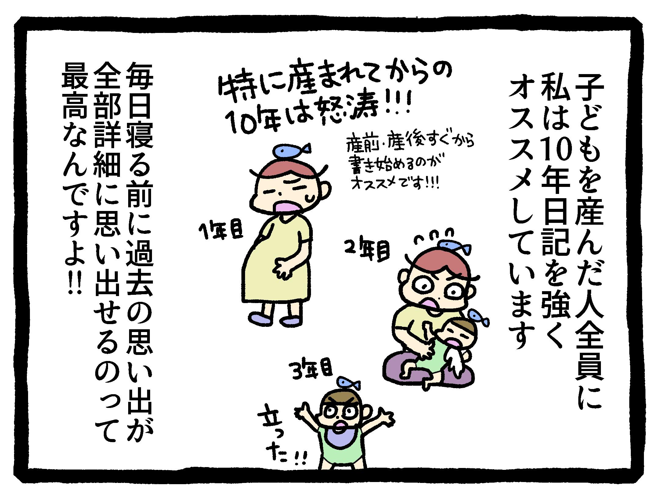 妊娠・出産したら10年日記!